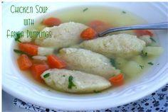 Chicken Soup with Farina Dumplings. Delicious Bosnian Recipe!