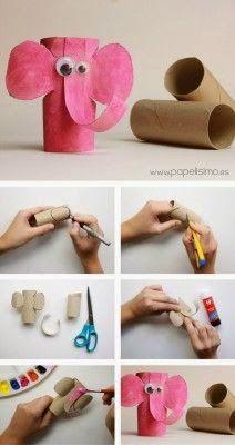 Com criatividade podemos tornar útil àquilo que era lixo.   Vejam que lindos esses animais feitos com rolo de papel higiênico, que podem ...