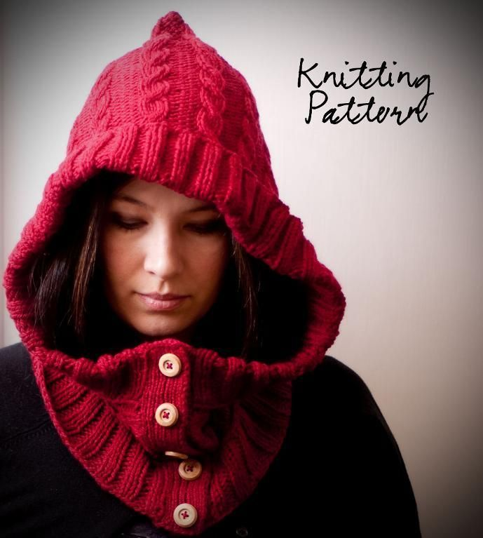 : Knits Crochet, Little Red, Knitting Patterns, Knits Patterns, Hoods Cowls, Woods Patterns, Red Riding Hoods, Red Hoods, Woods Hoods