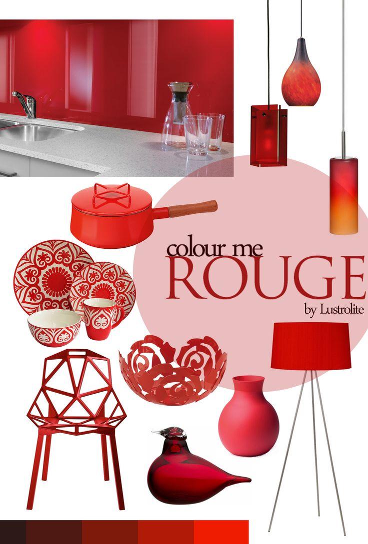 Modern island kitchen design using granite kitchen photo 388980 - Colour Inspiration Rouge By Lustrolite