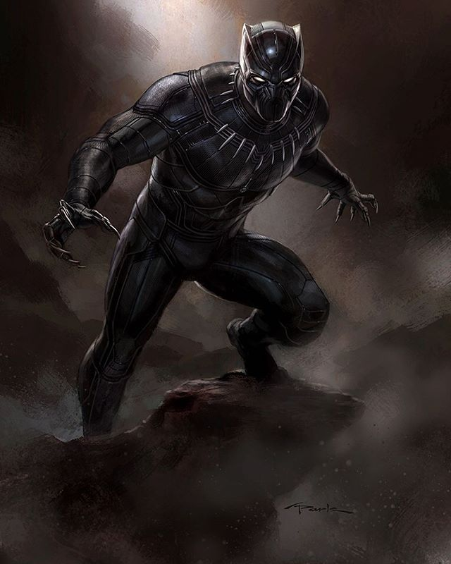 Unused Black Panther concept art by Andy Park