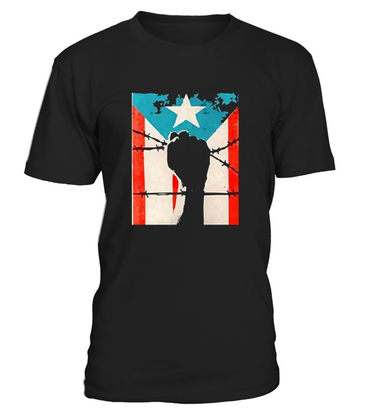 Unisex shirt support most sizes and colors makes a great gift.   Cool Power Fist design PR Flag Representing Boricua and the Isla Del Encanto.