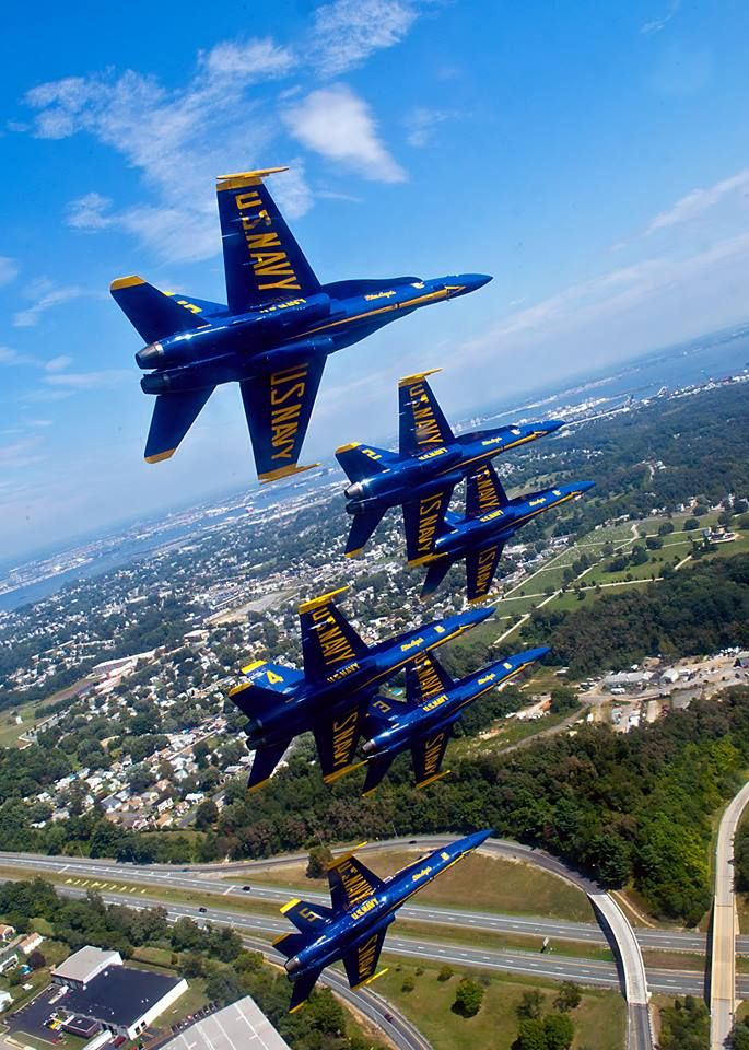 Your U.S. Navy Blue Angels are getting ready for their practice demonstration over Fort McHenry for the Star-Spangled 200 air show this weekend!