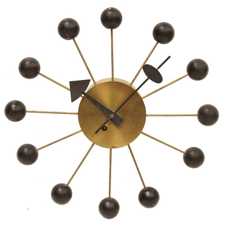 1950s george nelson ball wall clock for howard miller for Nelson wall clock