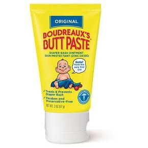 Boudreaux's Butt Paste was developed by a pharmacist and father of four. It has been trusted for over 40 years by pediatricians and parents. Original Butt Paste is ideal for mild to moderate diaper rash. It is also a great way to help prevent diaper rash when applied on daily basis. There are no harsh ingredients: Free of Dye, Paraben, Preservative, Phthalate, and Talc. Made with 6 simple ingredients designed to be effective in kicking diaper rash but gentle on babies' skin.