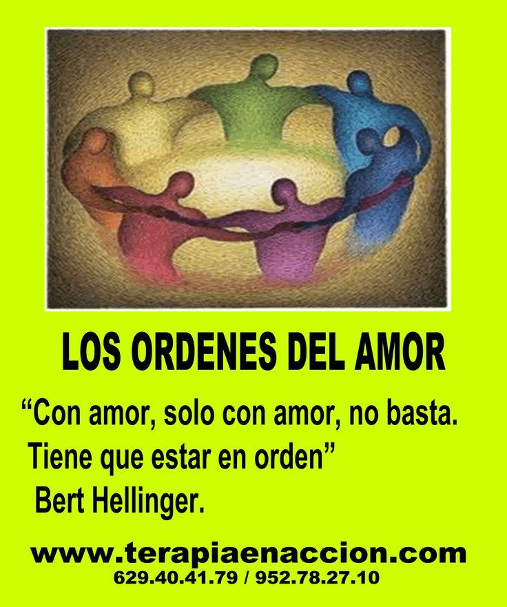 El amor no es suficiente para que nuestras relaciones afectivas  funcionen. Además, hace falta un orden. Puedes leerlo en en enlace adjunto. http://www.terapiaenaccion.com/articulos-y-entrevistas/articulos/los-ordenes-del-amor-segun-bert-hellinger