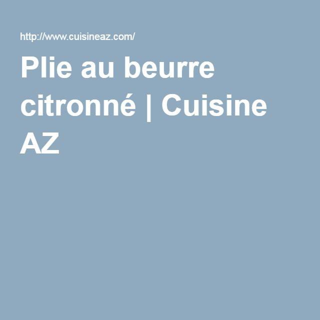 Plie au beurre citronné | Cuisine AZ