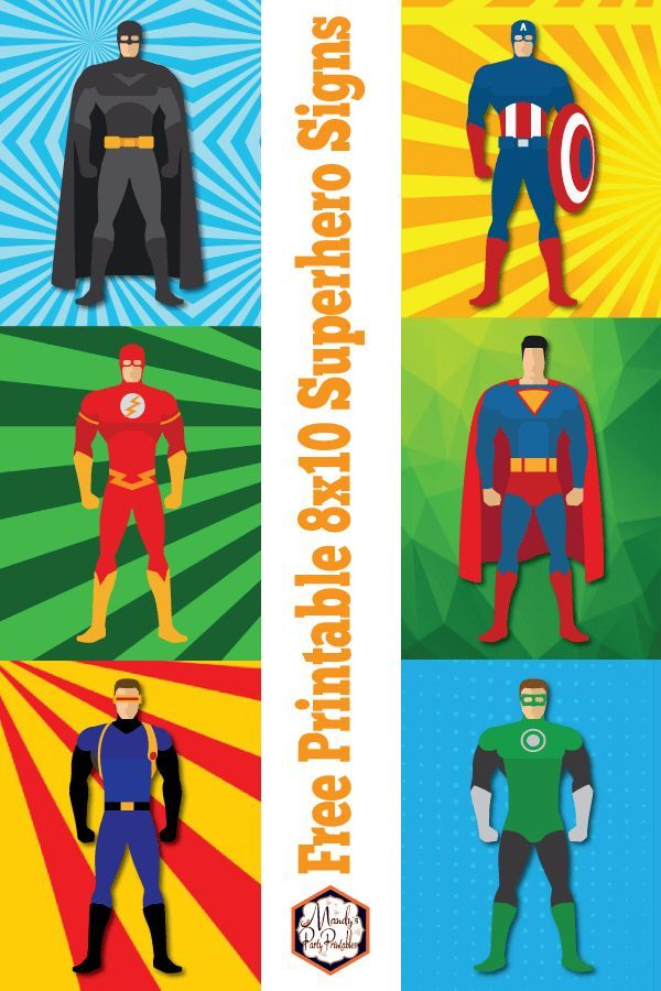 Free Superhero Printable Signs Superhero Party Printables