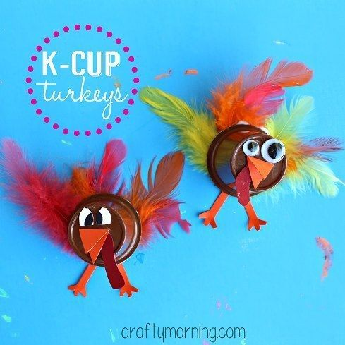 Make some easy turkey crafts. | 33 Genius Ways To Reuse Your K-Cups