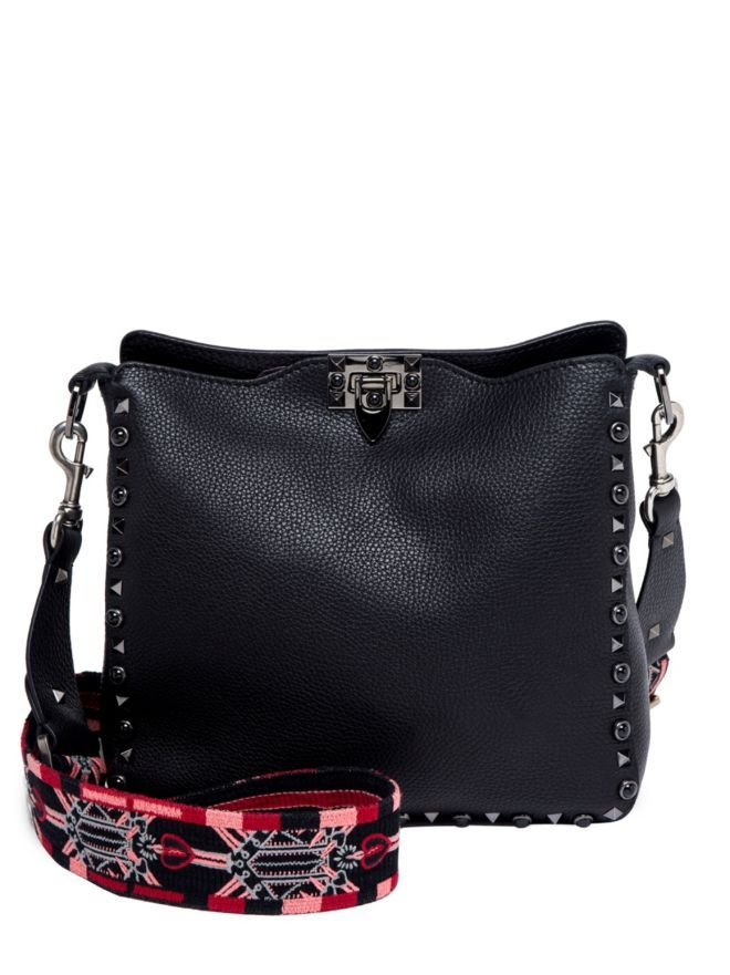 1e759f79b9 VALENTINO GARAVANI Small Rockstud Love Blade Guitar-Strap Leather Hobo Bag  Black Women s Bags Outlet  400093023832  -  297.45   Valentino Garavani USA  ...