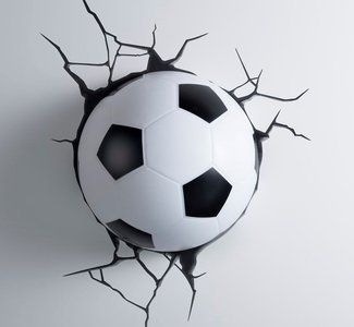 Voetbal 3D LED lamp