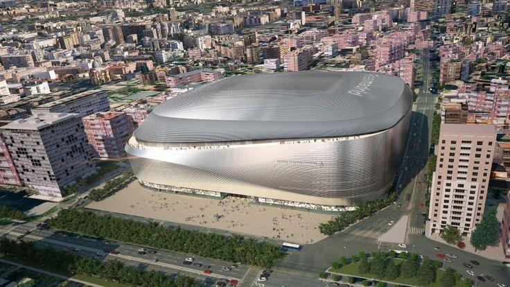 Vista aérea del nuevo estadio del Real Madrid