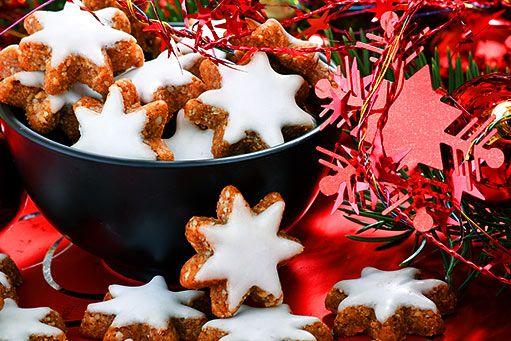 Ořechové hvězdičky s rozinkami - Vánoční cukroví