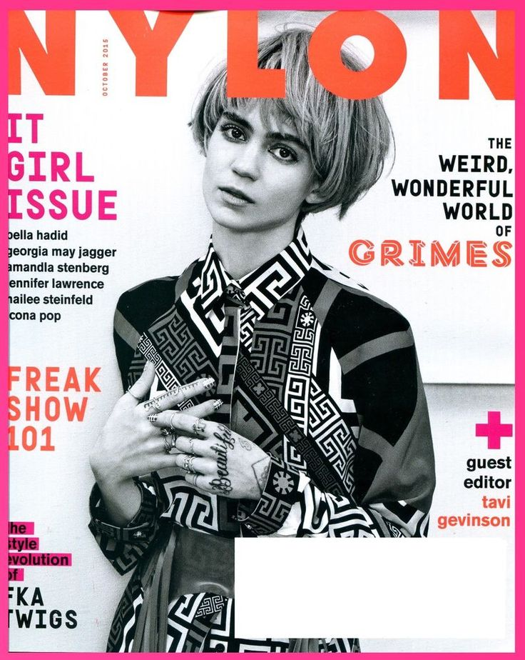 NYLON Magazine October 2015 - IT GIRL ISSUE, Grimes Cover, FKA Twiggs - NEW