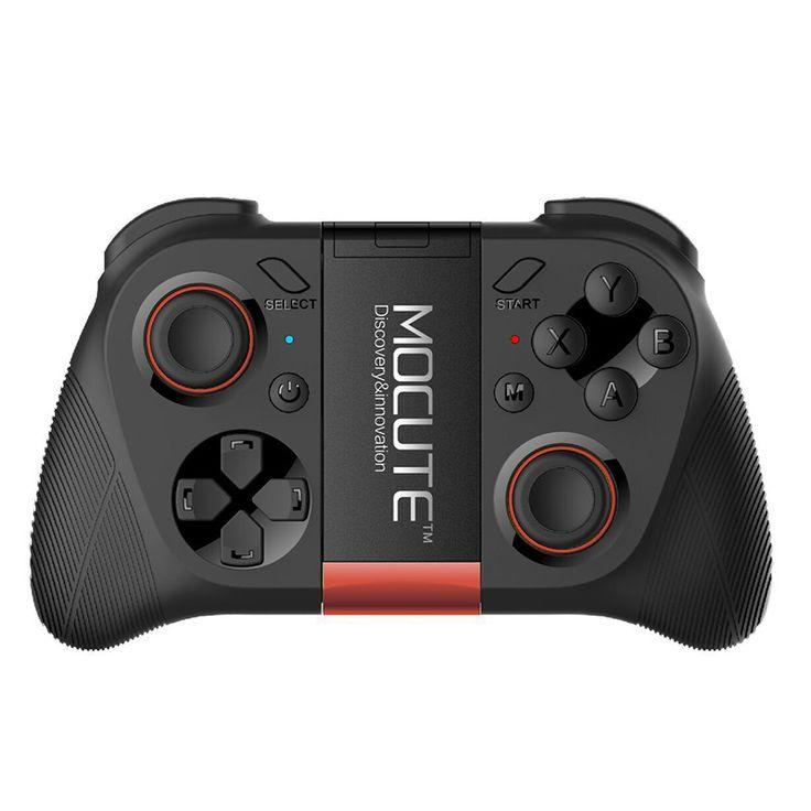 Mocute 050 vr permainan pad android selfie remote control shutter gamepad joystick bluetooth controller untuk pc smart phone + pemegang