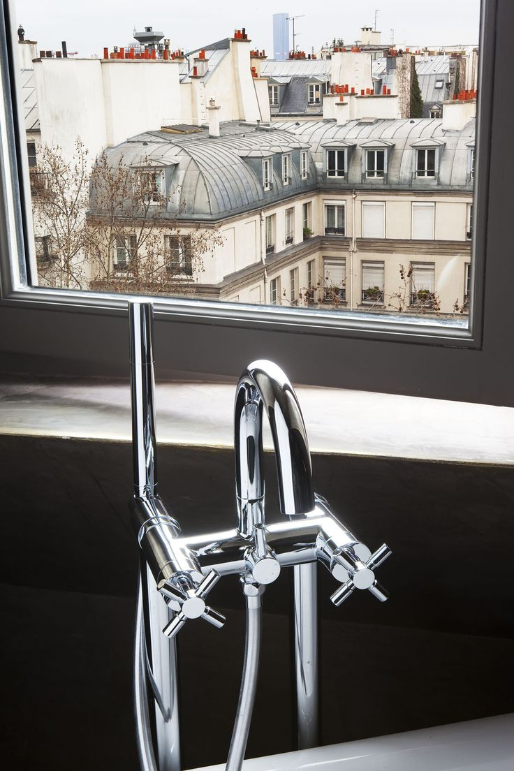 View from your bathroom on the 6th Floor...The Hotel Original Paris