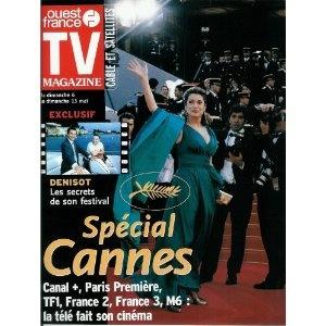Catherine Deneuve (couverture) : Spécial Cannes, avec une interview de Michel Denisot, dans TV Magazine Ouest-France n°17185 du 04/05/2001 [couverture et article mis en vente par Presse-Mémoire]