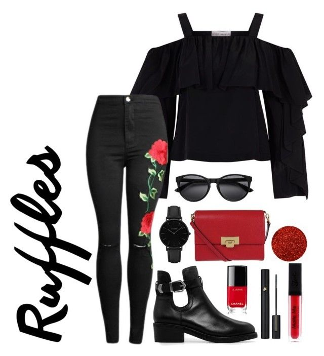 """""""ruffles"""" by roselie1405x on Polyvore featuring Robert Rodriguez, MANGO, Chanel, Lodis, CLUSE and Lancôme"""