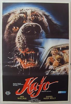 Cujo 1983 Dee Wallace Stephen King Horror Vintage Movie Poster from Turkey Confira os nossos artigos dedicados aos Filmes de Terror em http://mundodecinema.com/category/filmes-de-terror/ Confira os nossos artigos dedicados aos Filmes de Terror em http://mundodecinema.com/category/filmes-de-terror/