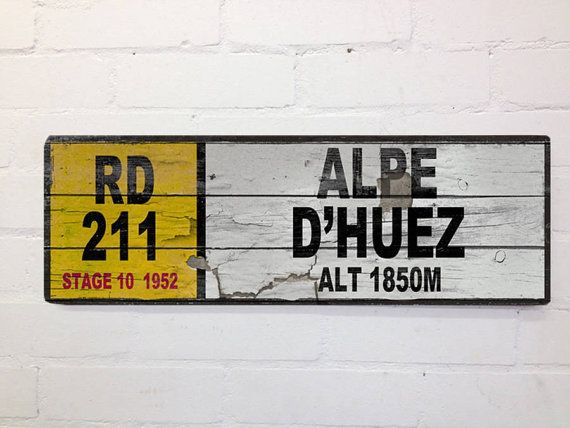 Lovely vintage style door or wall sign, harking back to the vintage days of cycling Perfect gift for any cycling enthusiast, vintage style