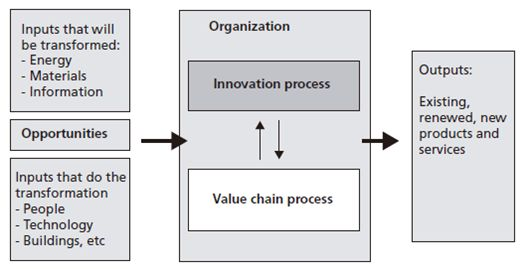 Innovation process modelled as a transformation process