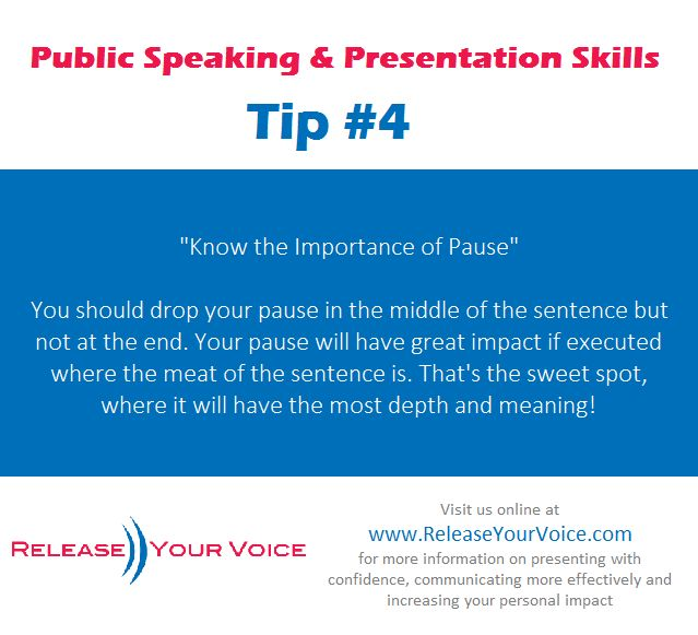 Public Speaking & Presentation Skills Tip #4 - Know the Importance of Pause