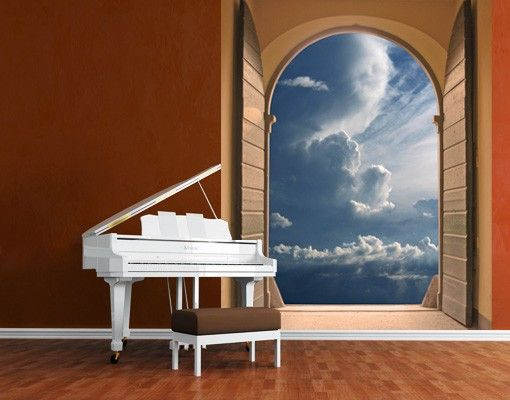 Selbstklebende Tapete Grau : Selbstklebende Tapete – Fototapete Das Tor zum Himmel