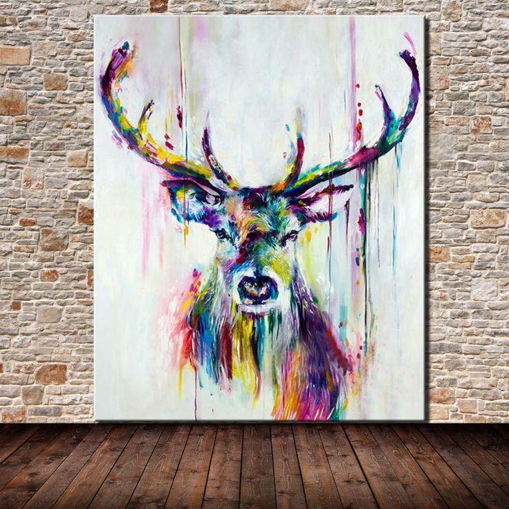 1000 id es sur le th me peintures de cerfs sur pinterest - Salon du dessin et de la peinture a l eau ...