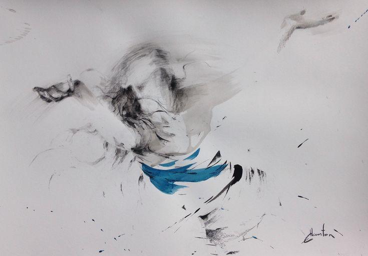 ewa hauton 100x70cm ink on paper #dancer #woman #inkon paper
