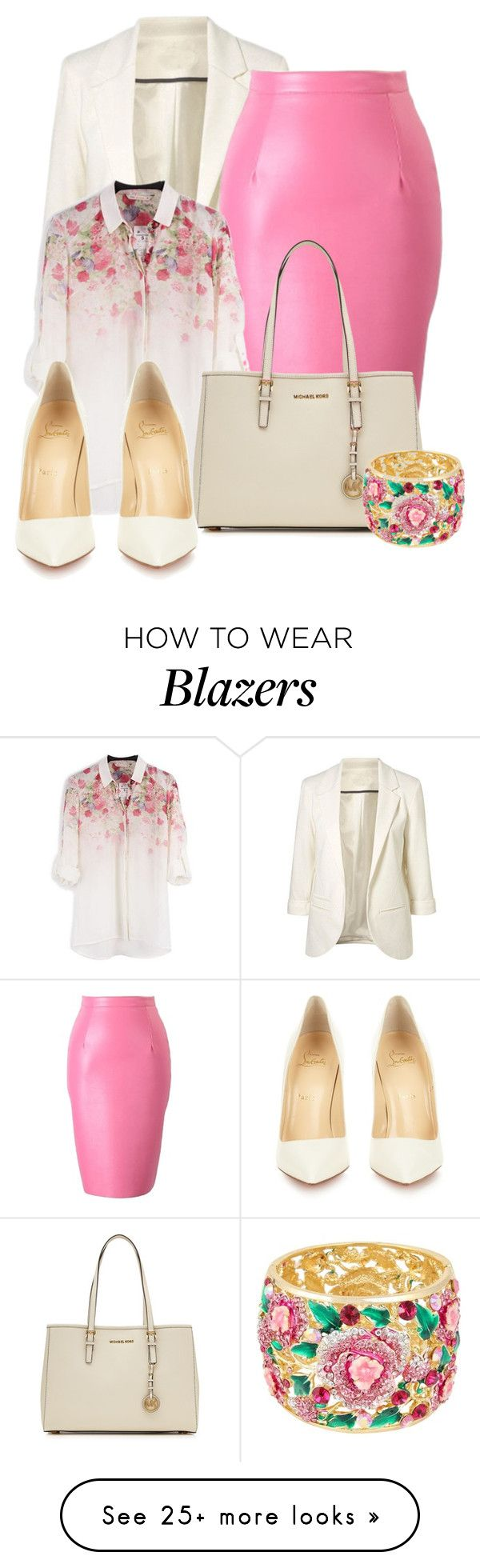 """""""A Happy Mix"""" by ljbminime on Polyvore featuring Mode, MICHAEL Michael Kors, Christian Louboutin, women's clothing, women's fashion, women, female, woman, misses und juniors"""