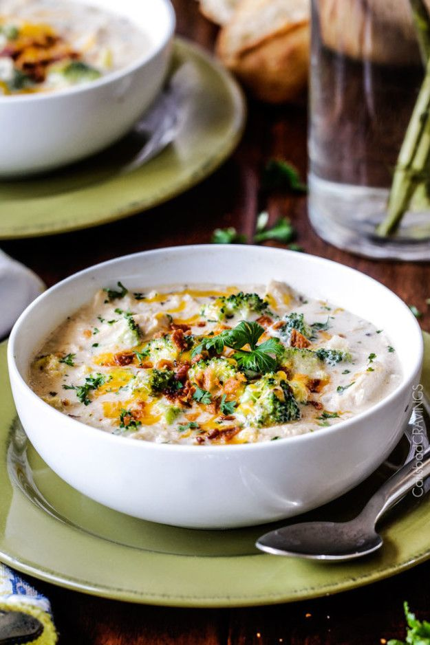 Cheesy Chicken, Wild Rice, and Broccoli Soup