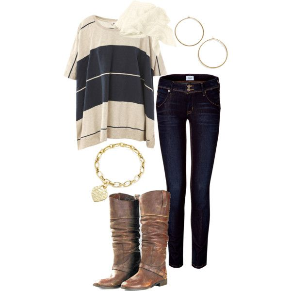 """""""Untitled #34"""" by cmslater21 on Polyvore: Fall Outfits Polyvore, Big Shirts, Cute Outfits, Comfy Fall Outfits, Fall Outfitpolyvor, Casual Outfits, Boots, My Style, Fall Transitional Outfits"""