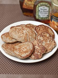 Absolutely Healthy Oatmeal Banana Flaxseed Pancakes - quick and simple recipe, made with 3 ingredients.