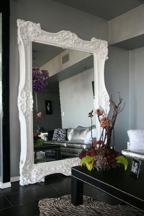 HUGE mirror! remember to spray paint that big mirror i've got hiding in the coat closet.