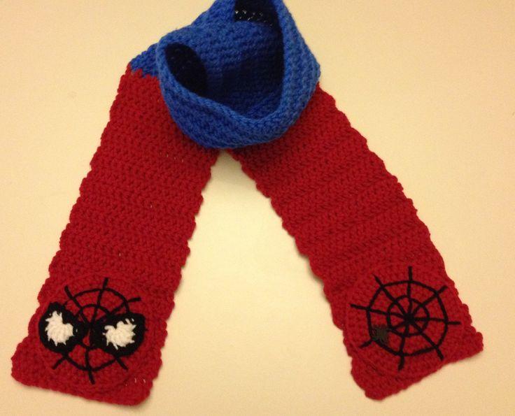 Nyan Cat Scarf Crochet Pattern Free : Spider-Man Scarf by CrochetbyApril414 on Etsy Crochet ...