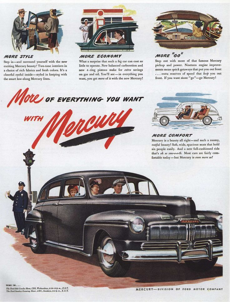https://flic.kr/p/9xqVBC | Ad for Mercury 1946