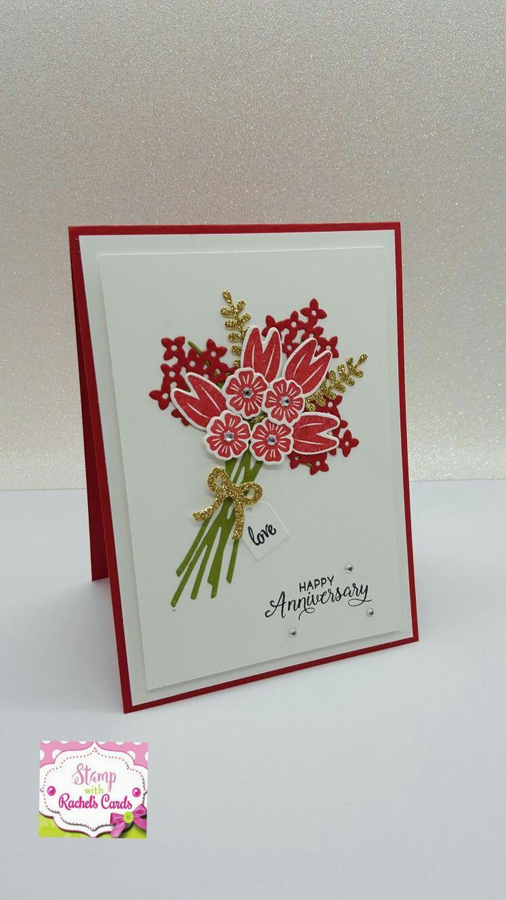 Stunning Anniversary card i just made using