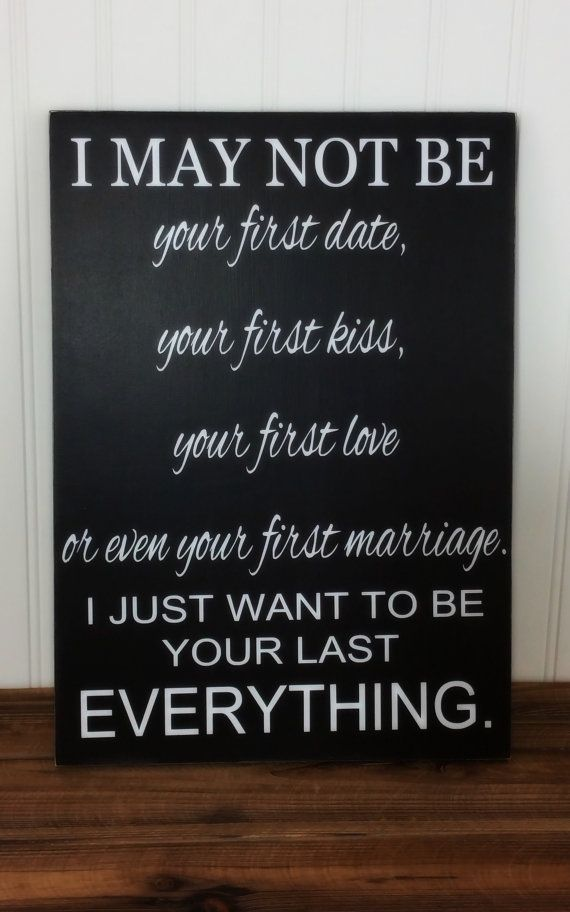 This sign is a heartfelt gift for the one you love on any occasion. Great for Second Marriages or Third, Fourth, etc. Anniversary - Birthday -