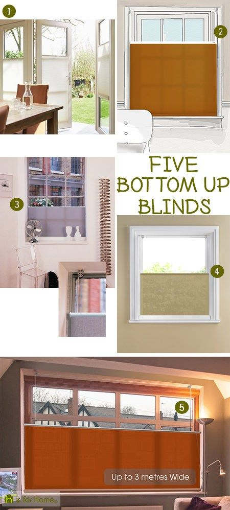 Selection of 5 bottom up blinds via @hisforhome