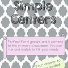SIMPLE CENTERS for the primary classroom. 6 small groups, editable, A/B day schedule, 3 rotations a day! $10 http://www.teacherspayteachers.com/Product/Simple-Center-Management-System-that-WORKS-for-the-primary-classroom-1194263