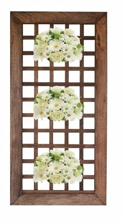 floreira painel jardim vertical treliça madeira tratada 1mt