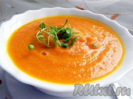 Морковно-имбирный суп-пюре
