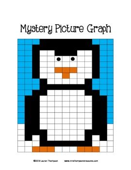 FREE Mystery Picture - Penguin. This is a mystery picture made by coloring in the correct squares on the alphanumeric grid using the colors and coordinates given.   Great activity for back to school in January! Includes 2 different work pages for differentiated learning!