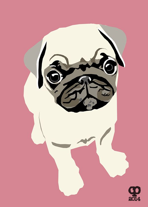 Dog Illustrations for Handmade Appliqué Cushions on Behance