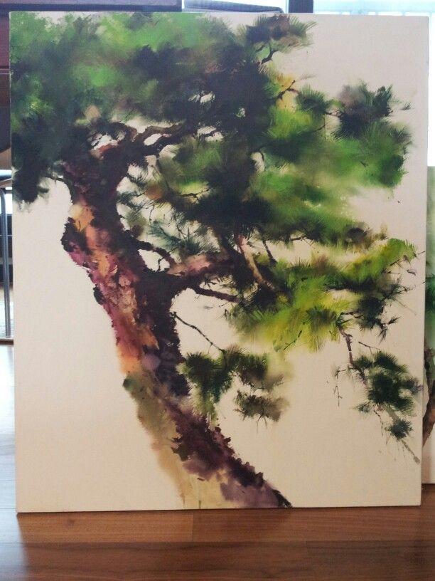 Pine treeㅡwatercolor