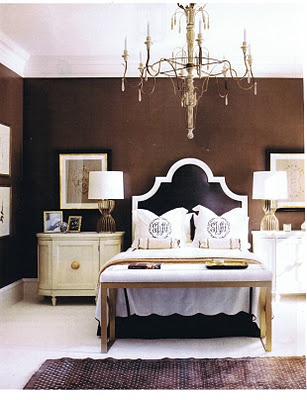 Amanda Headboard Bed Linens Love The And Chocolate Brown