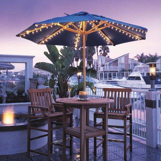 (1) Fancy   Harbor Patio Umbrella Lights