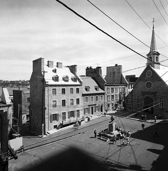 Place-Royale à Québec, l'image d'une ville - Articles | Encyclopédie du patrimoine culturel de l'Amérique française – histoire, culture, religion, héritage