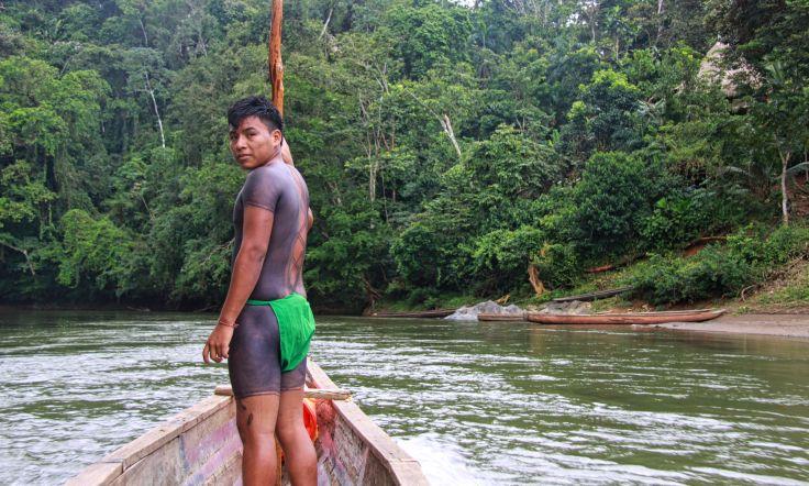 Homme Embera / Embera man   parc national de Chagres, Panama