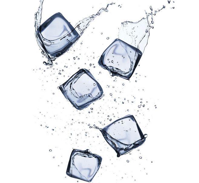水花喷溅与冰块 图片素材下载-冰水烈火-...